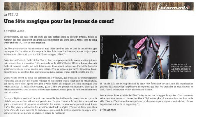 REVUE DE PRESSE - Indice Bohémien Avril 2013